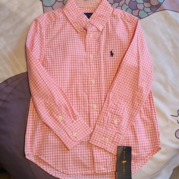 Polo collared girl's shirt